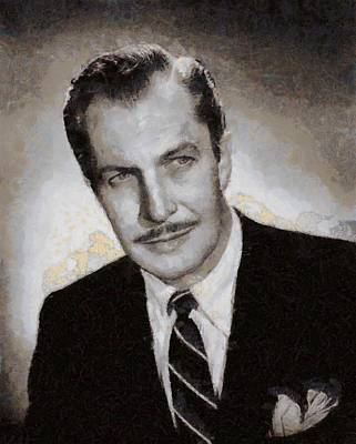 Keith Richards - Vincent Price Hollywood Actor by Esoterica Art Agency