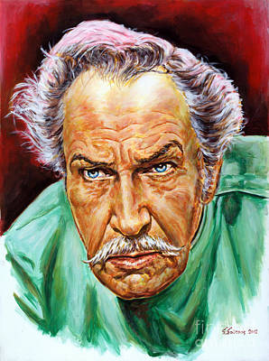 Vincent Price Painting - Vincent Price, Theatre Of Blood 1973 by Spiros Soutsos