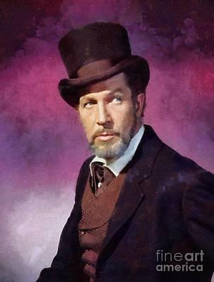 Vincent Price Painting - Vincent Price, Vintage Actor by Sarah Kirk