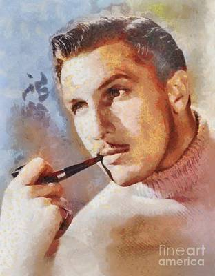 Vincent Price Painting - Vincent Price, Vintage Hollywood Actor by Mary Bassett