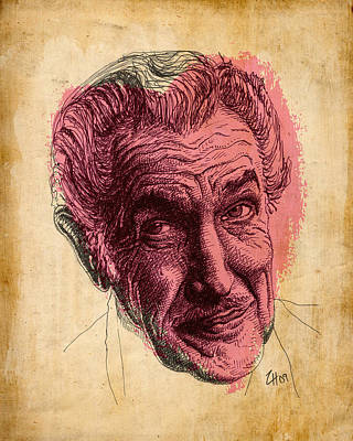 The Raven Drawing - Vincent Price by Zoe Wall