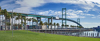 Photograph - Vincent Thomas Bridge San Pedro  by David Zanzinger