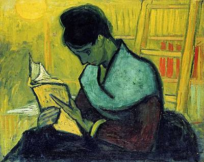 Painting - Vincent Van Gogh  A Novel Reader by Artistic Panda