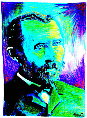Mixed Media - Vincent Van Gogh by Bonnie Cushman