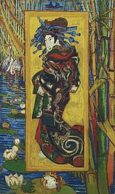 Painting - Vincent Van Gogh  Courtisane After Eisen   Pari by Artistic Panda