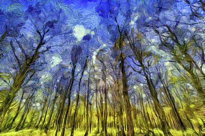 Mixed Media - Vincent Van Gogh Forest Art by David Pyatt