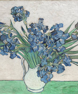 Painting - Vincent Van Gogh Irises Floral Purple by Tony Rubino