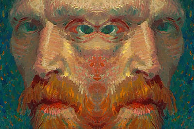 Pop Surrealism Painting - Vincent Van Gogh Meets Salvador Dali 1 by Tony Rubino