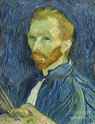 Self Photograph - Vincent Van Gogh Self-portrait 1889 by Edward Fielding