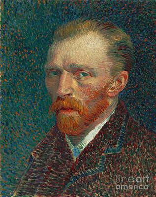 Painting - Vincent Van Gogh Self Portrait Spring 1887 Oil On Pasteboard by R Muirhead Art