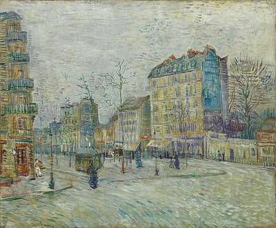 Painting - Vincent Van Gogh  The Boulevard De Clichy, Paris by Artistic Panda