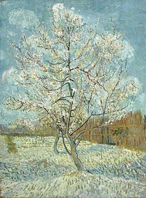 Painting - Vincent Van Gogh, The Pink Peach Tree by Artistic Panda