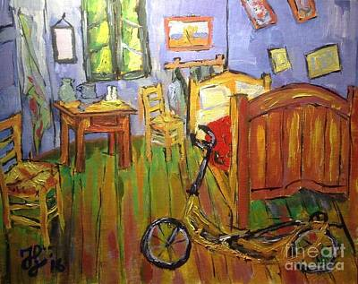 Painting - Vincent Van Go's Bedroom by Francois Lamothe