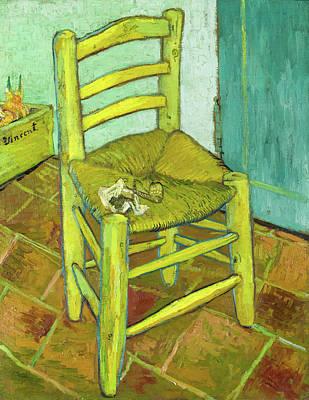 Vintage Automobiles - Vincents Chair in 1888 by Vincent Van Gogh