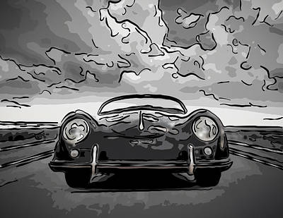 Digital Art - Vincent's Speedster by Douglas Pittman