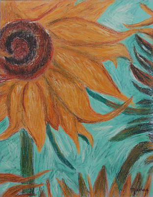 Pastel - Vincent's Sunflower by Marina Garrison