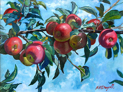Vine Apples Art Print by Michael McDougall