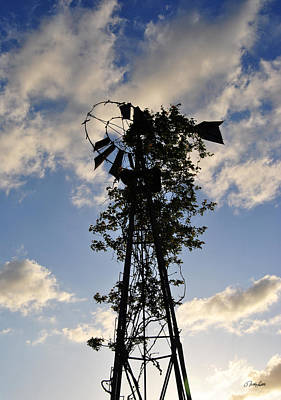 Photograph - Vine Covered Windmill by Nathan Little