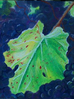 Grapeleaves Painting - Vine Leaf by Pamela Wilson