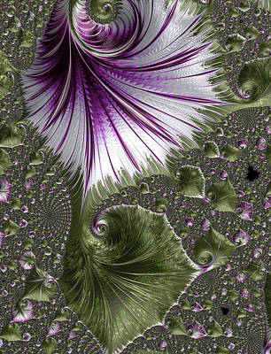 Digital Art - Vine Leaves Abstract by Georgiana Romanovna