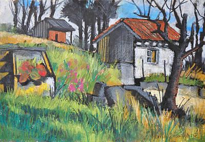 Painting - Vine Yard Shack by Martin Stankewitz