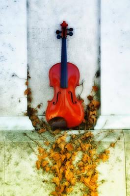 Violin Digital Art - Vines And Violin by Bill Cannon