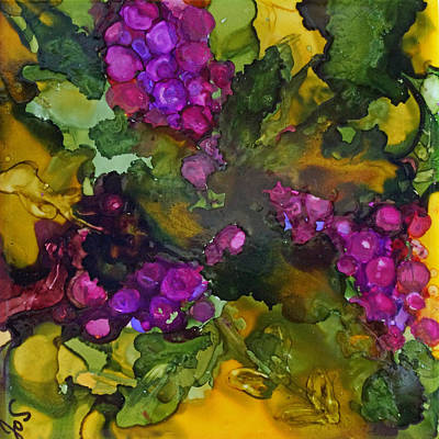 Painting - Vines Of Grapes by Joanne Smoley