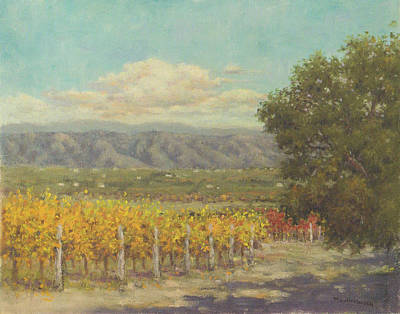 Painting - Vineyard Above The Valley by Marv Anderson