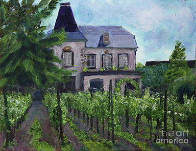 Painting -  Vineyard Along The Alsace Trail by Donna Walsh