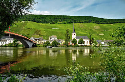 Pastoral Vineyard Photograph - Vineyard Along The Moselle River by Mrs Brown