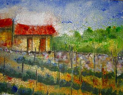 Shed Painting - Vineyard by Anne Duke