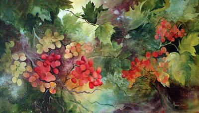 Vineyard At Dawn Original by Sue Downes Allen
