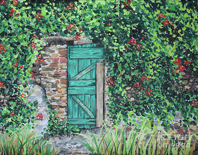 Painting - Vineyard Door by Lisa Norris