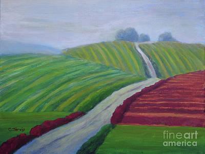 Painting - Vineyard Fields by Carolyn Jarvis