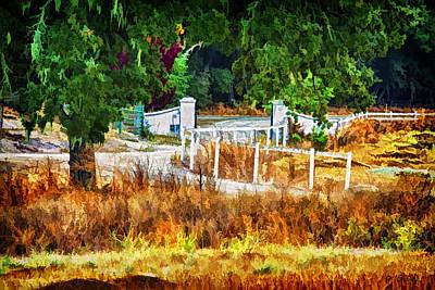Vineyard Digital Art - Vineyard Gate by Patricia Stalter