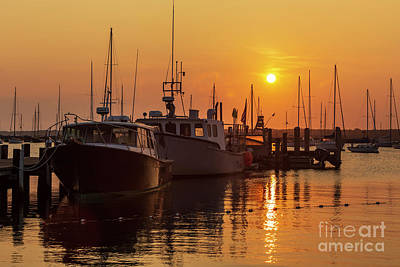 Photograph - Vineyard Haven Harbor Sunrise II by Clarence Holmes