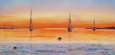 Michael Mcgrath Painting - Vineyard Haven by Michael McGrath