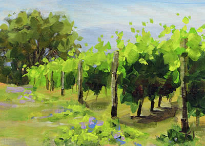 Painting - Vineyard by Karen Ilari