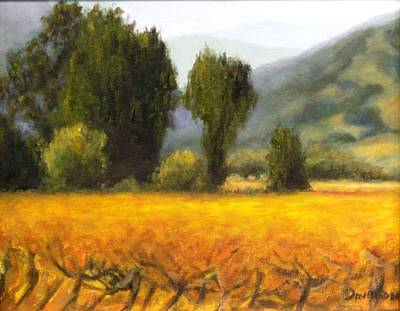 Painting - Vineyard by Kevin Davidson