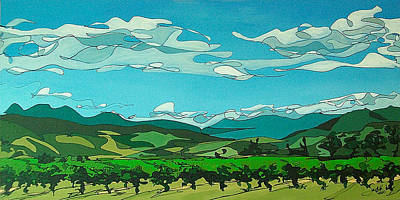 Painting - Vineyard Landscape by John Gibbs
