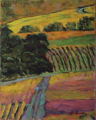 Painting - Vineyard by Nita Burge