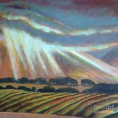 Vineyard Rain Art Print by Kip Decker