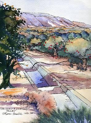 Orchard And Vineyard Valley Original