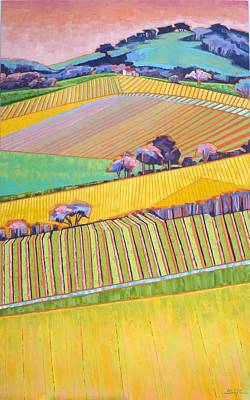 Painting - Vineyard Vertical by Sarah Gayle Carter