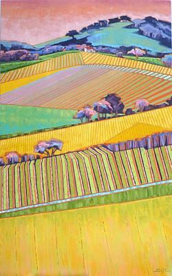 Painting - Vineyard Vertical by Sarah Gayle Carter