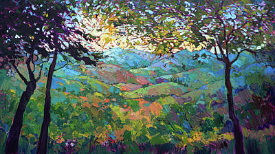 Painting - Vineyard View by Erin Hanson