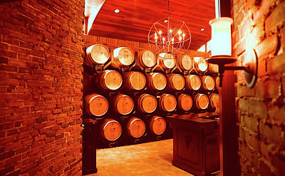 Photograph - Vineyard Wine Barrels by Dan Sproul