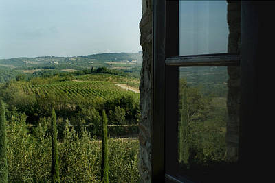 Chianti Hills Photograph - Vineyards Of Chianti Viewed by Todd Gipstein