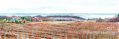 Painting - Vineyards Of Mission Peninsula by LeAnne Sowa