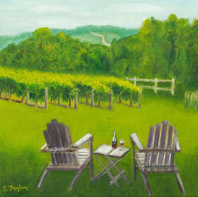 Vineyards Of Sogn Valley Art Print by Susan Fuglem